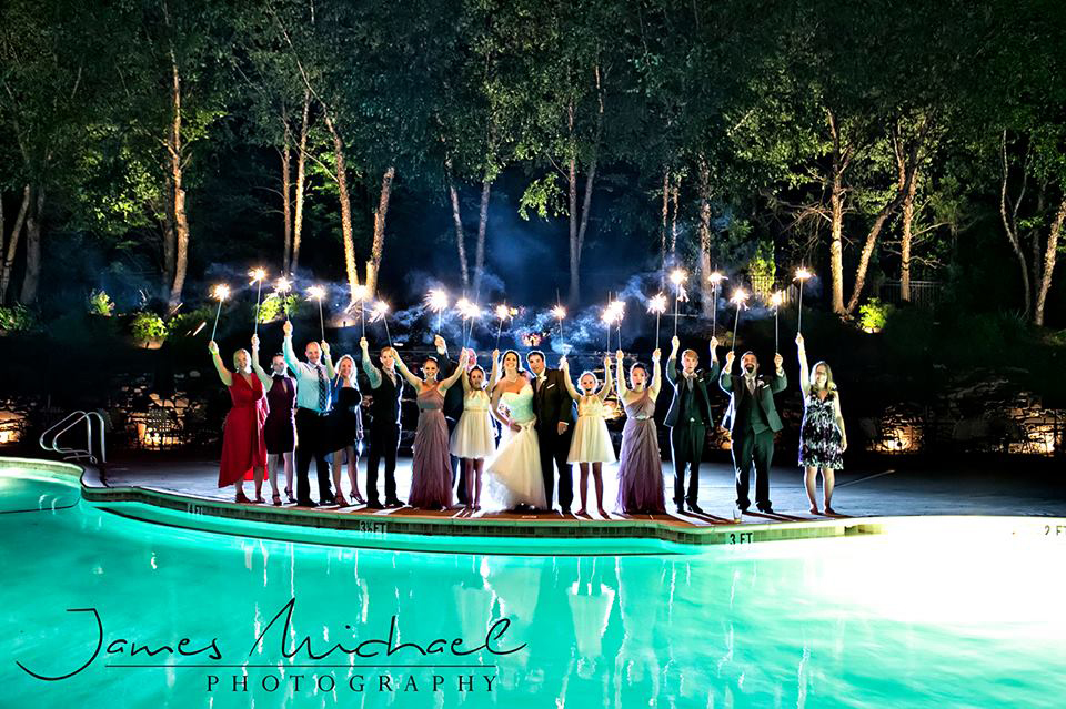 Poolsparklers Rivercrest Weddings Montgomery County Chester